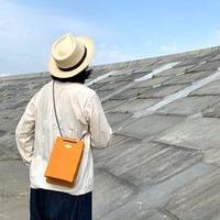 岡山倉敷キャンバス/巾着ショルダー SHUTTLE Ver.4/ オレンジ
