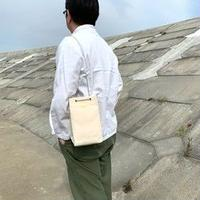 岡山倉敷キャンバス/巾着ショルダー SHUTTLE Ver.4/ アイボリー