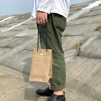 岡山倉敷キャンバス/巾着ショルダー SHUTTLE Ver.4/ ベージュ