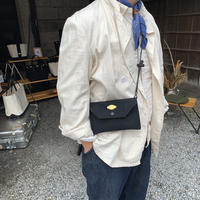 Japanese Canvas Sacoche Wallet / Black