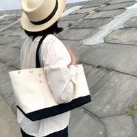 Japanese Canvas ROMEO TOTE 3 - S (FR-0134) / Black x White
