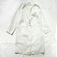 くったりリネンのノーカラーシャツコート【受注生産】