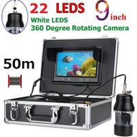 CCD 水中カメラ 釣りカメラ 360度回転 白色LED22灯 9インチモニター 50mケーブル GAMWATER