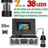 CCD 水中カメラ 釣りカメラ 360度回転 赤外線・白色LED38灯 7インチモニター 50mケーブル GAMWATER