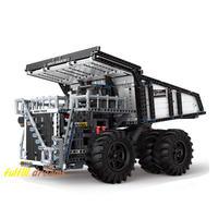 ラジコン レゴ 互換品 リープヘル マイニングトラック T284 モデル モーターセット RC 鉱山 ダンプカー リモート トラック テクニック プレゼント クリスマス 車両 工事 重機 ブロック