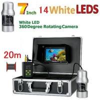 CCD 水中カメラ 釣りカメラ 360度回転 白色LED14灯 7インチモニター 20mケーブル GAMWATER