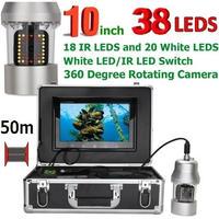 CCD 水中カメラ 釣りカメラ 360度回転 赤外線・白色LED38灯 10インチモニター 50mケーブル GAMWATER