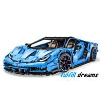 レゴ 互換品 ランボルギーニ センテナリオ デザイン ブルー スポーツカー レーシングカー スーパーカー テクニック クリスマス プレゼント レースカー 車 おもちゃ ブロック