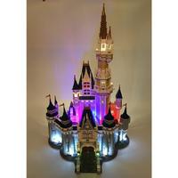 レゴ ディズニー プリンセスシンデレラ城 互換品 イルミネーションライト付 おもちゃ プレゼント クリスマス 知育玩具 学習玩具 おもちゃ ブロック 入学 お祝い こどもの日 男の子 女の子
