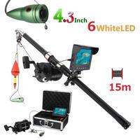 リール付き 釣竿カメラ 白色LED6灯 4.3インチモニター アルミ 水中カメラ 釣りカメラ 15mケーブル GAMWATER