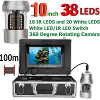 CCD 水中カメラ 釣りカメラ 360度回転 赤外線・白色LED38灯 10インチモニター 100mケーブル GAMWATER