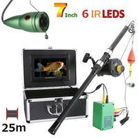 リール付き 釣竿カメラ 赤外線LED6灯 7インチモニター アルミ 水中カメラ 釣りカメラ 25mケーブル GAMWATER