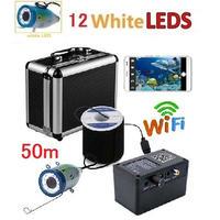 wifi 白色LED12灯 アルミ 水中カメラ  釣りカメラ 50mケーブル GAMWATER