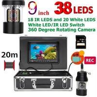 CCD 水中カメラ 釣りカメラ 360度回転 赤外線・白色LED38灯 9インチモニター 20mケーブル GAMWATER 録画 SDカード付