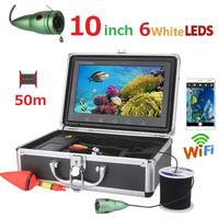 wifi アルミ 水中カメラ 白色LED6灯 10インチモニター  釣りカメラ 50mケーブル GAMWATER