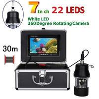 CCD 水中カメラ 釣りカメラ 360度回転 白色LED22灯 7インチモニター 30mケーブル GAMWATER