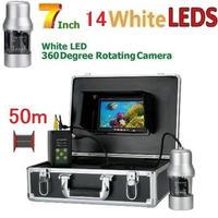 CCD 水中カメラ 釣りカメラ 360度回転 白色LED14灯 7インチモニター 50mケーブル GAMWATER