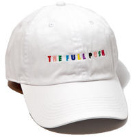 """THE FULLPUSH"" 6Panel Strapback White/Mlt"