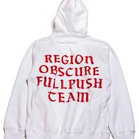 "Full Push ""Region"" Hoodie  / White 12oz Reverse Weave Body"