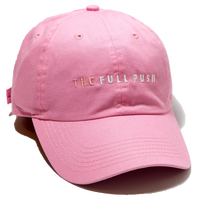 """THE FULLPUSH"" 6Panel Strapback  Lt Pink"