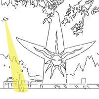 太陽の塔とUFO【限定5点】