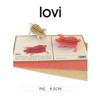 【ポストカード】 lovi(ロヴィ) ピッグ ブタ 9.5cm