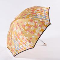 桜/黄 Cherry Blossoms/Yellow 晴雨兼用折畳み傘