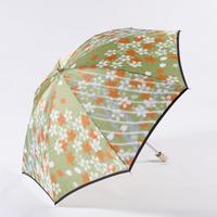 桜/緑 Cherry Blossoms/Green 晴雨兼用折畳み傘