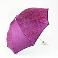 ペイズリー/紫  Paisley/Purple 晴雨兼用折り畳み傘 ◆マスクケース付◆