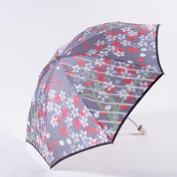 桜/紫  Cherry Blossoms/Purple  晴雨兼用折畳み傘