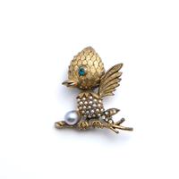 Tortolani(トートラニ)鳥のブローチ(BR1180)