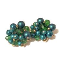 Trifari(トリファリ) Green Floral イヤリング(ER0193)