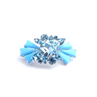 Turquoise Color Glass Brooch(BR1154)