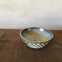 藁灰 しのぎ丸鉢3寸/ 工房つちみ