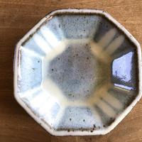 スリップウエア白  八角鉢 大/工房つちみ