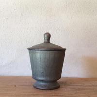 コバルト釉 蓋物/平野日奈子