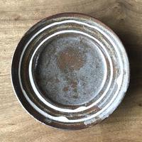スリップウエア 8寸平皿 茶/工房つちみ