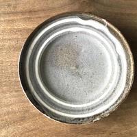 スリップウエア 8寸 平皿 グレー/工房つちみ