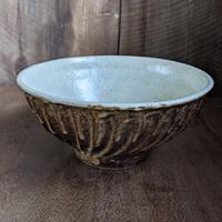 鉄釉  麺鉢/及川静香