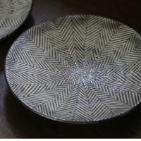 ヘリンボーン7寸皿 / 池田大介
