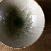 灰釉5寸鉢  浮彫り/櫻井 薫