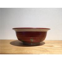 赤緑絵鉢「作家 奥田美恵子」(No.6)