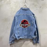 """""""JURASSIC PARK""""Back design denim jacket"""
