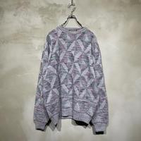 古着 幾何学 デザイン 総柄 ニット セーター