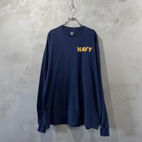 """US NAVY"" front design L/S-T-shirts"