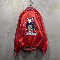 """Budweiser"" Front logo satin jacket"
