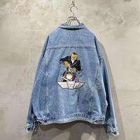 """""""CAMEL"""" Back design denim jacket"""