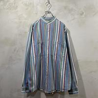 """Stripe""design crew neck L/S-shirts"