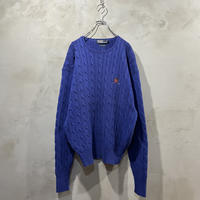 【POLO by RALPH LAUREN】 One point logo knit
