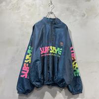 """""""surf style""""Half zip nylon jacket"""